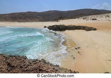 Waves Lapping the Beach at Boca Keto in Aruba