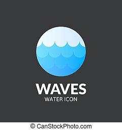 Waves logo template