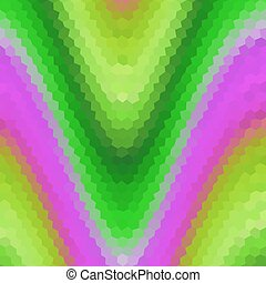 Waves low poly hexagon style vector mosaic background