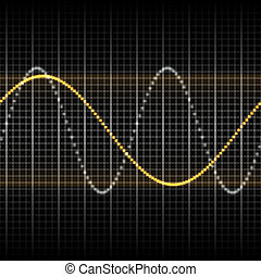 waves measuring display - Abstract generic science audio ...