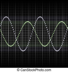 waves measuring display - Abstract generic science audio...