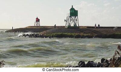 Waves near the port of Stavoren.