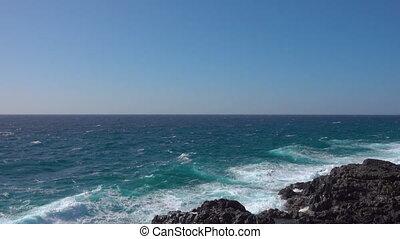 Waves of Atlantic Ocean. Tenerife, The Canaries