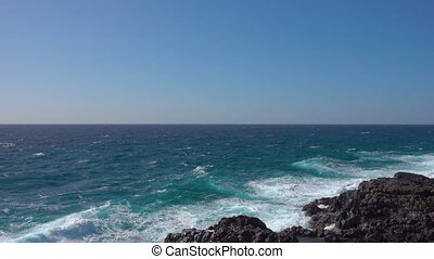 Waves of Atlantic Ocean. Tenerife, The Canaries