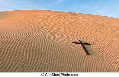 Waves of sand Black Cross