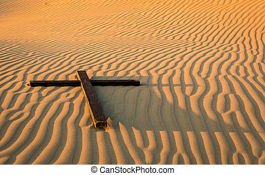 Waves of Sand Cross