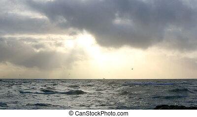 Waves of the Atlantic Ocean
