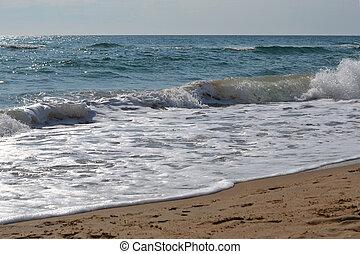 Waves of the Black Sea. Anapa, Krasnodar Krai.
