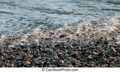 waves of the sea at pebble beach