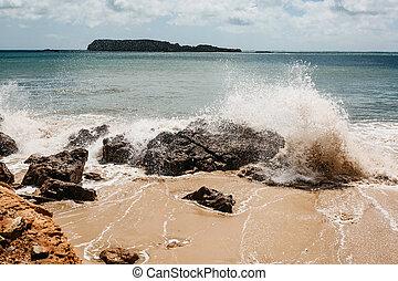 Waves off the coast of Portugal. Atlantic Ocean