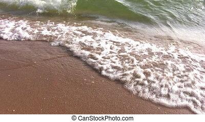 waves on beach