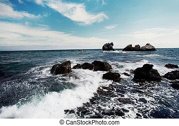 Waves on Black sea, Crimea