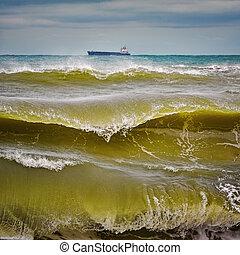 Waves on Black Sea