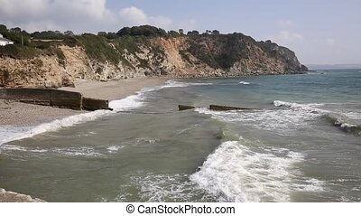 Waves on Charlestown beach Cornwall - Waves on Charlestown...