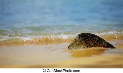 waves on paradise sand beach