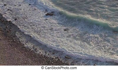 Waves On Rocky Beach