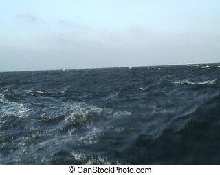 Waves on sea - Nice waves filmed from a catamaran. Good...
