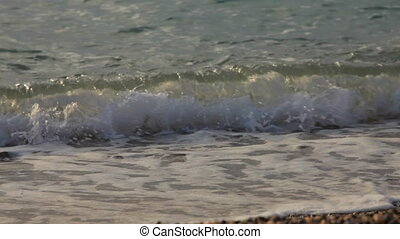 Waves on shore