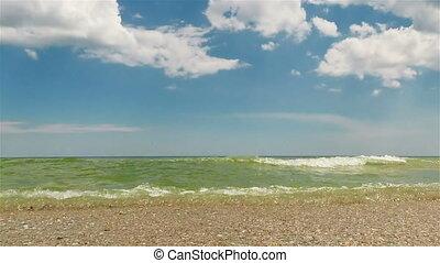 Waves on the beach. Loop.