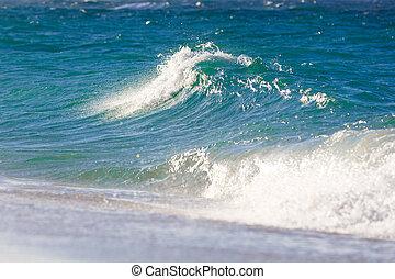 Waves on the beach of a tropical sea