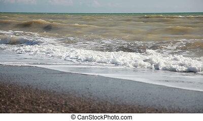 Waves on the Beach.