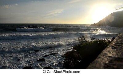 Waves on the Italian coast