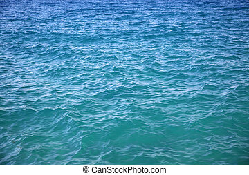 sea surface, water blue
