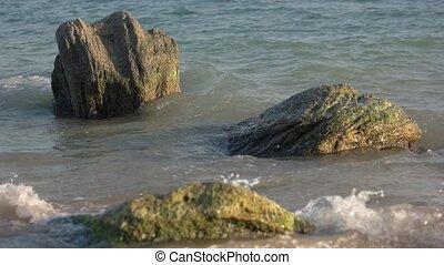 Waves on the sea.