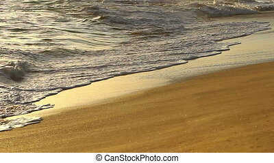 Waves On Tropical Sandy Beach - waves on tropical sandy...