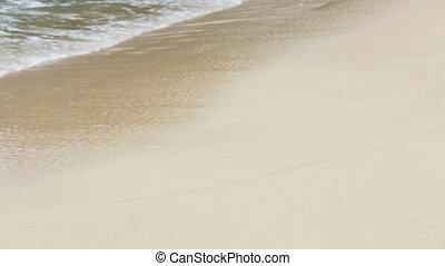 Waves On White Beach Detail