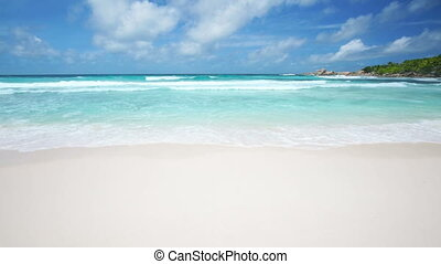 Waves On White Beach - Perfect white beach with turquoise...