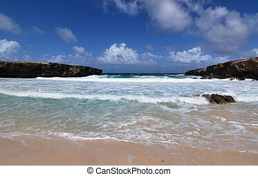 Waves Rolling On to the Beach in Aruba