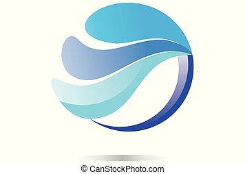 waves sea logo dsign