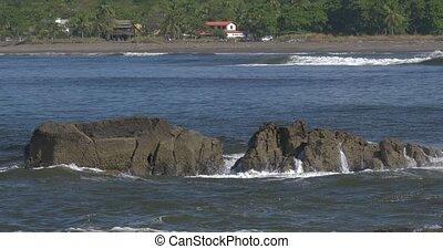 Waves Splashing Against Cliffs And Rocks, Native Version,...