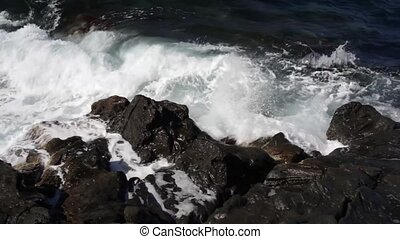 Waves on the rocks in Pantelleria,  Sicily