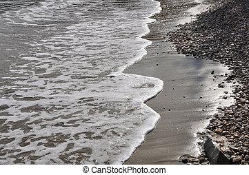 waves stone beach