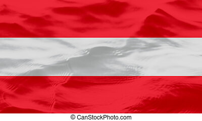 Waves Texture On Austria Flag