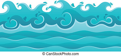 Waves theme image 6 - vector illustration.