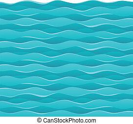 Waves theme image 7 - vector illustration.
