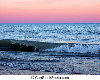 Illinois Beach State Park - Waves under a beautiful Lake...