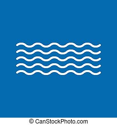 Waves vector icon