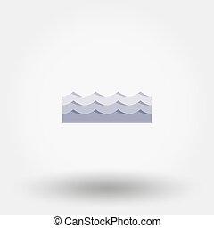 waves., vector, icon.