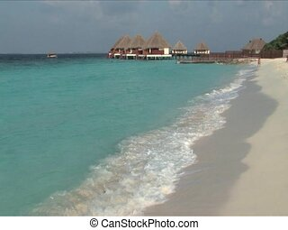 Maldives Islands - Waves washing the beaches of Maldives...