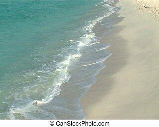Maldives Islands - Waves washing the beaches on Maldives...