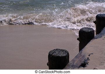 Waves Washing Up Jetty