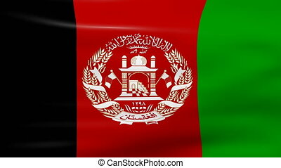 Waving Afghanistan Flag, ready for seamless loop.