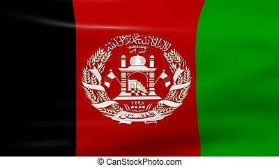 Waving Afghanistan Flag, ready for seamless loop.