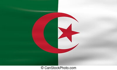 Waving Algeria Flag, ready for seamless loop.