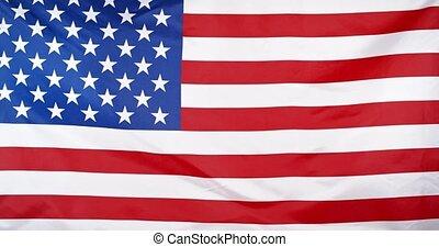 Waving American Flag background loop