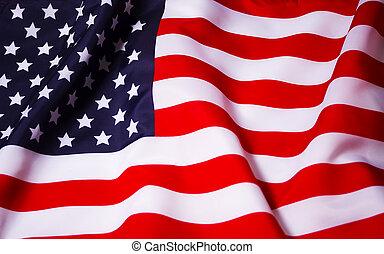 Waving American flag - Beautifully waving star and striped...